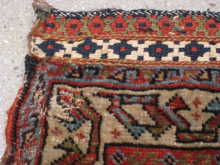 "A Fine Q'ashqa'i Bagface, late 19th Century, 2' 0"" x 2' 0"", in need of minor attention.  Great wool and color."