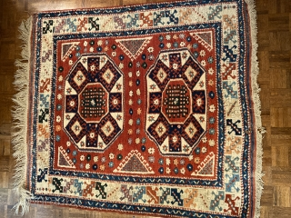 An intense garden of natural colors, Dobag project type Turkish rug in Canakale form. Meaty pile. It does have one home about an inch across at the border. $400/obo plus shipping for  ...