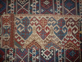 Roughly a quarter of an anatolian kilim