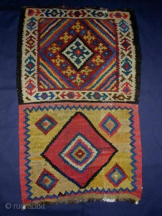 Luri/Bakhtiari Kilim Bag(opened), ca.1900, 50x80cm, all good and clear colors, happy tribal item...