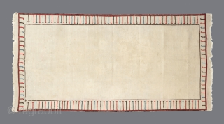 South Caucasian Mixed Technique Sofreh, 19th century, 100x200cm, extremely finely woven, great condition. Minimalistic Textile Art!