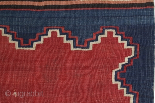 Northwest Anatolian Kilim, mid 19th century, 150x230cm, beautifully aged colors and very nice patina, professionally mounted on linen. Great early example of this group! Affordable... Also, please check my new website: https://www.mbtextileart.com/
