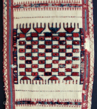 Early and Unusual Tent Band fragment,ca.1800,22x125cm,some moth damage,mounted on linen.