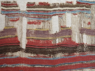 Early Karapinar Kilim Fragment, 18th century or earlier, 80x182cm, professionally mounted on linen. Great Example of what could be argued as a Proto-Baklava!!!