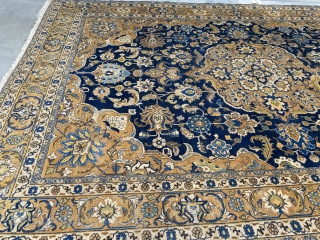 Antique Tabriz rug 9.4 x 13.3 good condition overall no dry rot original condition