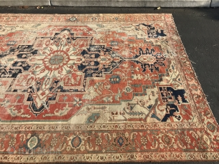 Antique persian serapi approx 8x11 has few holes great quality no dry Rots