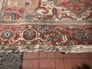 11x16 Antique persian serapi original size
