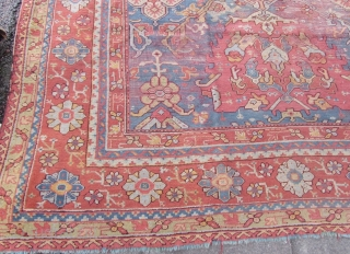Palace size Antique Oushak 13.2x19.2 rug