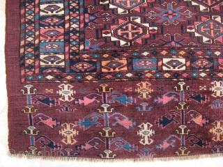 19th c. tekke chuval 83x120cm I believe one dye may be analine