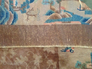 Antique chinese carpet in mint condition. size cm. 356 x cm. 284