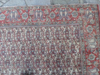 Antique Isfahan botteh (Maybe a Teheran) fair condition. 193 x 137 are the measurements. All original, this carpet has not been restored.  More info and photos on request. VENDUTO ! THANKS a lot!  SOLD   ...