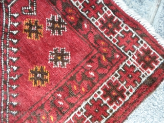 A Pair of old Bashir Turkkmen Afghan carpets. Very, very good condition. Full pile, foundations all wool for this pair. Size 108 x 80 + 108 x 81 cm. Mehrab  design More info or pictures on  ...