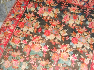 CAUCASUS carpet knotted in the region of KARABAGH. Perfect the condition of this wonderfull antique carpet. Size is 355 x 160 cm. (ft.11.64 x 5.25 ft.). Shiny and velvelty wool with all natural dyes. Upon one  ...
