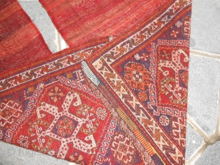 A pair of QASHQA'I Khordjin antique.