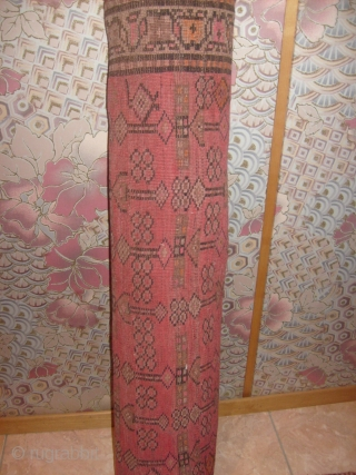 An antique runner from KARABAGH in very good conditions. No restored, no holes, no stains; all original. Size cm. 393 by 94 cm. Original pattern and not usual colours. Antique carpet knotted very  ...