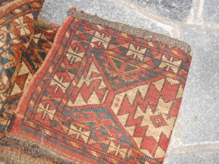 size 121 x 36 = An antique torba ERSARI tribe, with original primary and secondary gol.