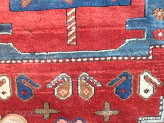 258x160 cm Antique KAZAKH >(Maybe a Borchalu).Very, very good condition.