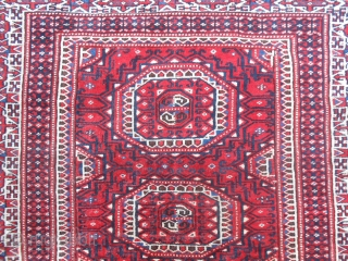 166 x 112 cm. YOUMUT Turkmen carpet with SALOR main gol. Has been knotted Nord-east Persian. Very fine knot. In very-very good conditions. Full pile.