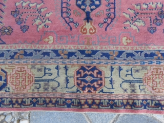 370 x 270 cm.  is the size of this antique TURKISH PANDERMA.