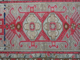 Antique carpet knotted in CAUCASUS _ KARABAGH.