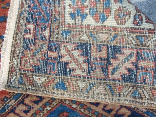 308 x 94 cm. is the size of this antique AZERBAIJAN HERIS. Very good condition and washed. Antique original runner from Heris village. Full pile, no holes, no stains, all original ends and no  ...
