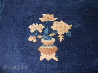 118 x 63 cm for this little but beautiful antique PEKING CARPET.
