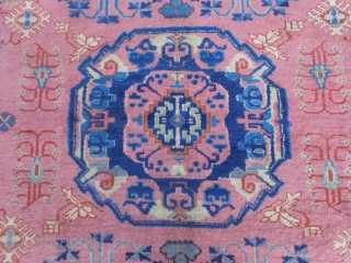 Antique PANDERMA Anatolian carpet in good condition. Only one corner has been damaged and restored with a piece of other carpet (look the photo). About this damage the carpet has a reasonable price. Size  ...