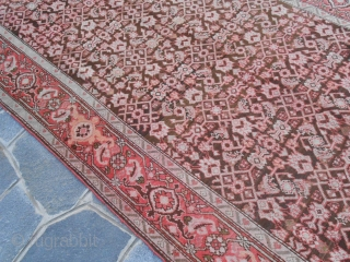 """382x164 cm. Original Caucasus Karabagh end XIX th century. This piece is in very good condition. Fine heraty design for this kelley knotted with the """"gentleman pattern"""". Washed and ready for domestic use. More info, photos  ..."""