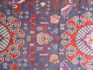 324 X 161 CM IS THE EXACT SIZE OF THIS ANTIQUE CARPET.