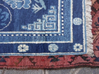 General Ma Bufang carpet knotted in region of Xinjiang-China,