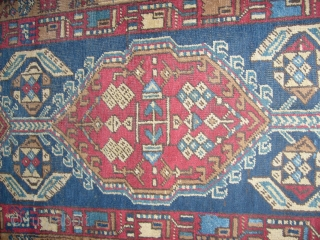 Antique Azeri SARAAB in good condition. Runner size  m. 4.85 x m.1.02. Collectible antique piece with original 3 borders, wool on wool. All original sizes, with original ends and selvedges. More info and pictures on request.