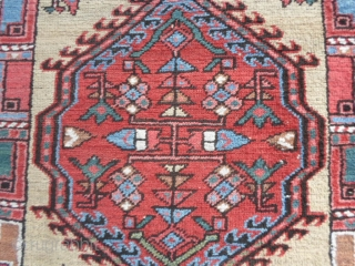 244 x 95  cm ANCIEN SARAAB in very good condition Antique azeri persian runner with all natural dyes. All original size, ends  and condition. More photos and info on request.  All the best  ...