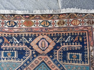 Antique Persian MESHKIN with a very original and