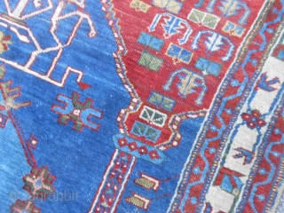 147 x 113 cm  ANTIQUE SHIRWAN IV° quarter XIX century. A lot of natural dyes for this original carpet made in CAUCASUS.   Wool on wool Very best price.  Wonderfull XMAS ! From lake of COMO