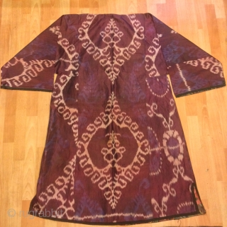 Ikat silk chapan kaftan clothes