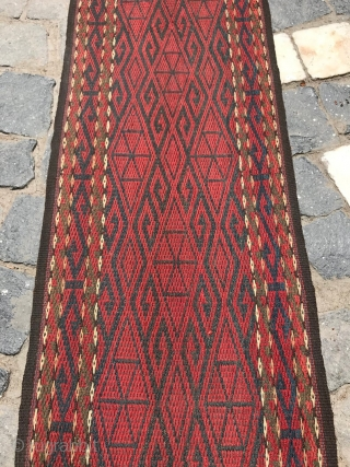 Turkmen vintage home decor band wool