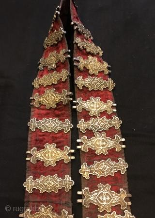 Antique khazak silver belt   Size : 94 cm x 7 cm Weight :808 grams  Fast shipping worldwide