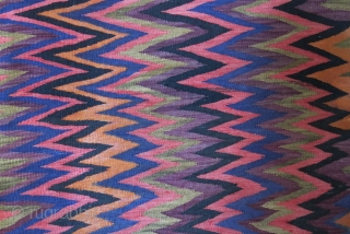 """Veramin kilim wool on cotton with some natural colors. Circa 1930s. Size: 210 cm x 152 cm (83"""" X 60"""")"""