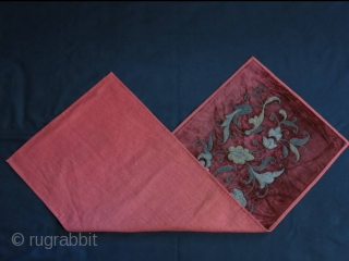 "Uzbek metallic emabroidered panel.  Size: 34 cm x 91.5 cm (13.3"" x 36"")."