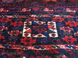 "Afshar pile bag with locking looms.  Size: 52 cm x 36 cm (22.5"" x 14"")."