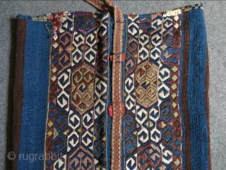 "Southeastern Anatolian Kurdish chuval.Circa 1900-20. Size: 100 cm x 67 cm (39"" x 26"")."