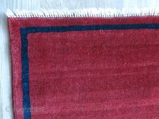 Minimalist Turkmen rug from Turkmen Sahra. It is little over 100 years. The date on it reads 1340, we are in 1442. The border color looks like dark blue but it is  ...