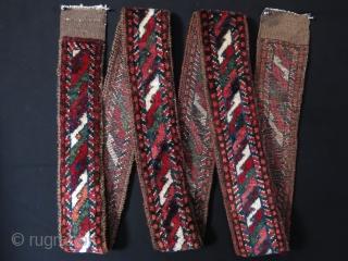 "Afghanistan Baluch pile band. Size: 386 cm x 13 cm (151"" x 5.1"")."