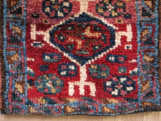 """Qashqai chanteh with natural colors and great wool. Size: 28 cm x 27 cm (11"""" x 10.5"""")."""