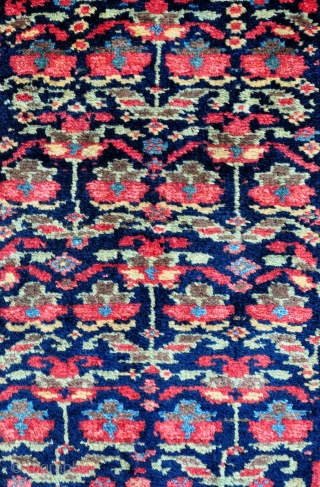 "Northwest Persian Kurdish Yastik/Pushti, no repairs, thick meaty pile and all natural colors even though some of the red looks a bit bright, it is just the photo. - 19"" x 36""  ..."
