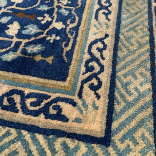 """Chinese Square Mat - 30"""" x 28"""" - 77 x 72 cm - could use a wash - reasonable reduced price"""