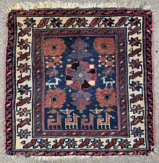 Northwest Persian Kurdish or Shahsavan? Bagface  - 23″ x 22″ – 58 x 56 cm