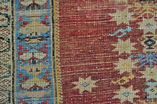 West Anatolian Kula rug from end of 18th century - 3'7 x 5'6 - 109 x 168 cm.