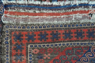 Baluch rug in good age and vintage, symmetrically knotted, no repairs, great colors, enlarge images to see the colors better or let me know and I'll be happy to email them to  ...