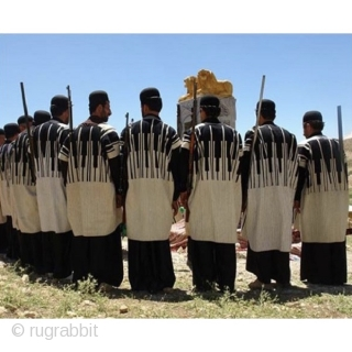 """Old Tribal Bakhtiari Chogha!  """"Chogha"""" is a men's tunic made of delicate sheep wool. Its special characteristic is that it provides warmth in the winter and coolness in the summer. It covers the  ..."""